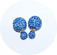Пусеты Диор из камней голубые