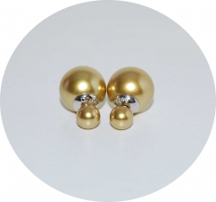 Серьги Dior золотые 925