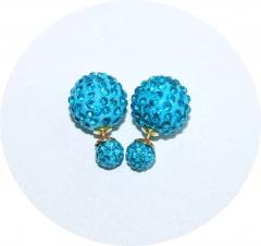 Пусеты Диор голубые из камней