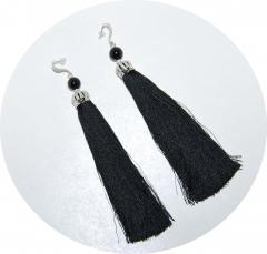 Серьги Кисточки черные