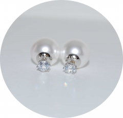 Серьги Dior с камнем жемчужные 925