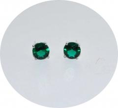 Серьги гвоздики зеленые