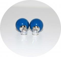 Серьги Dior с камнем синие 925