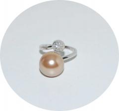 Кольцо Dior со стразами золотистое 925