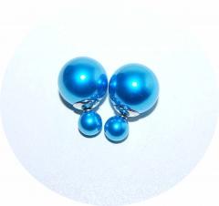 Серьги Mise En Dior голубой перламутр 925