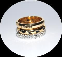 Тройное кольцо Cartier