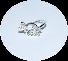 Кольцо на фалангу Бабочки