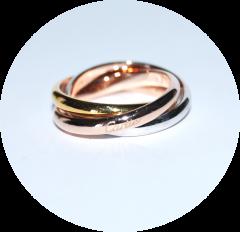 Тройное кольцо на фалангу Cartier