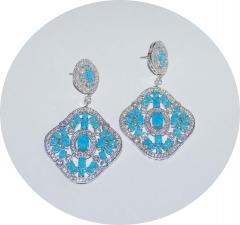 Серьги Boucheron голубые