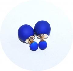 Серьги Dior синие матовые