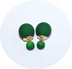 Серьги Dior зеленые матовые