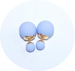 Серьги Dior лиловые матовые