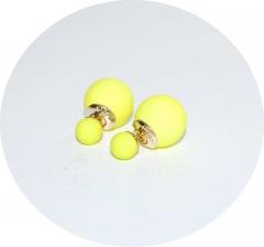 Серьги Dior желтые матовые