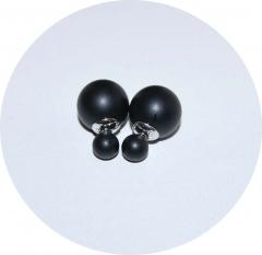 Серьги Dior черные матовые 925