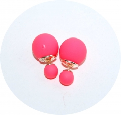Серьги Dior розовые матовые