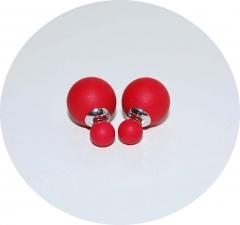Серьги Dior красные матовые 925