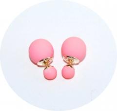 Серьги Dior бледно-розовые матовые