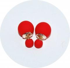 Серьги Dior красные матовые