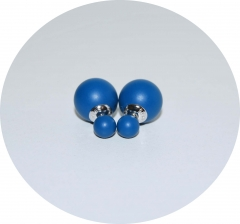 Серьги Dior синие матовые 925