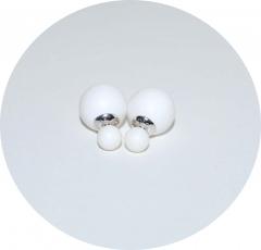 Серьги Dior белые матовые 925