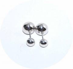 Пусеты шарики из серебра