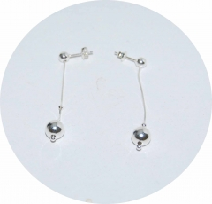 Серьги цепочки из серебра