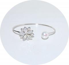 Серебряный браслет Цветочек