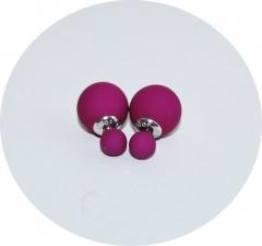 Серьги Dior матовые фиолетовые 925