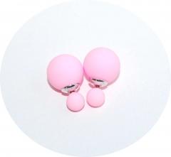 Серьги Dior нежно розовые матовые 925