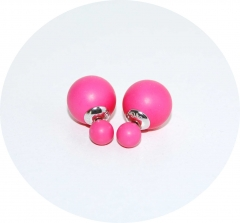 Серьги Dior матовые розовые 925