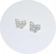 Серебряные сережки Бабочки