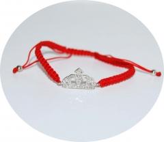 Браслет Красная нить с Короной