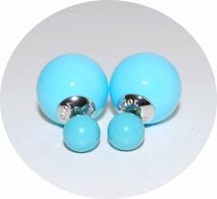 Серьги Mise En Dior голубые 925