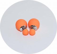 Серьги Dior оранжевые матовые