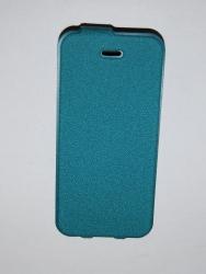 Чехол-книжка для iPhone 5S Fashion Classic бирюзовый