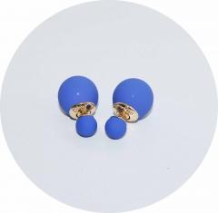 Серьги Dior матовые синие
