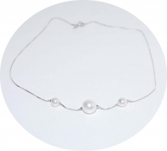 Серебряная цепочка с жемчугом 925