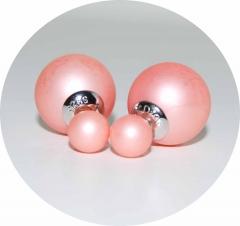 Серьги Mise En Dior персиковые 925