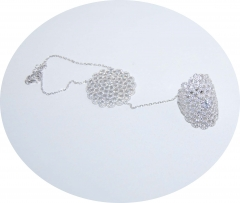 Слейв браслет из серебра Цветок