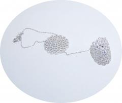 Слейв браслет из серебра Цветочек