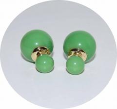 Серьги Mise En Dior оливковые