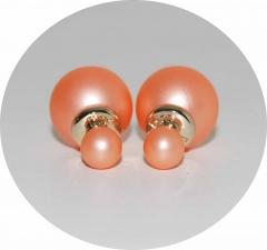 Серьги Mise En Dior матовые персиковые