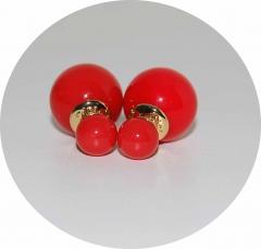 Серьги Mise En Dior красные