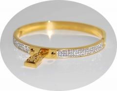 Браслет Michael Kors с замочком золотистый