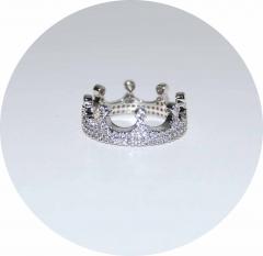 Кольцо на фалангу Корона