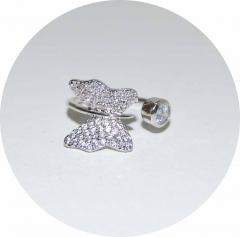 Кольцо на фалангу Бабочка