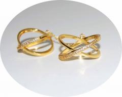 Колечки Иксы золотые
