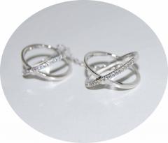 Колечки Иксы серебряные