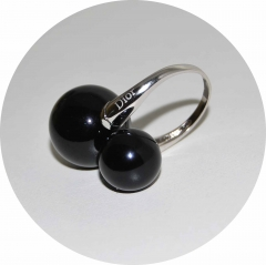 Кольцо Dior черное