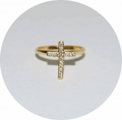 Кольцо на фалангу Крестик